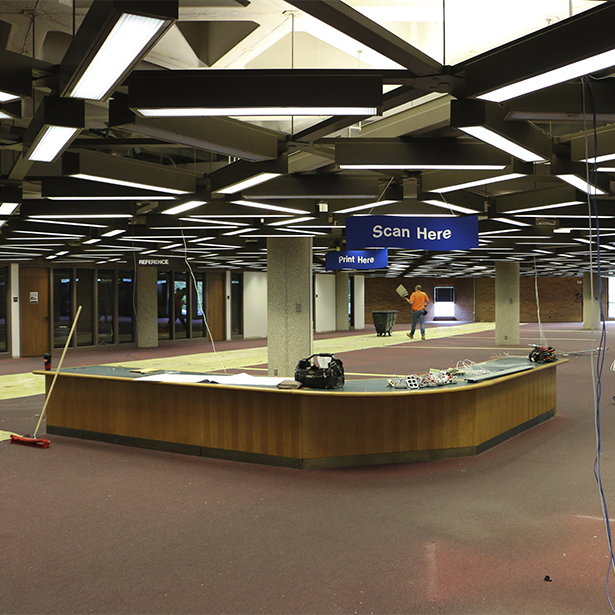 Brookens Library renovation