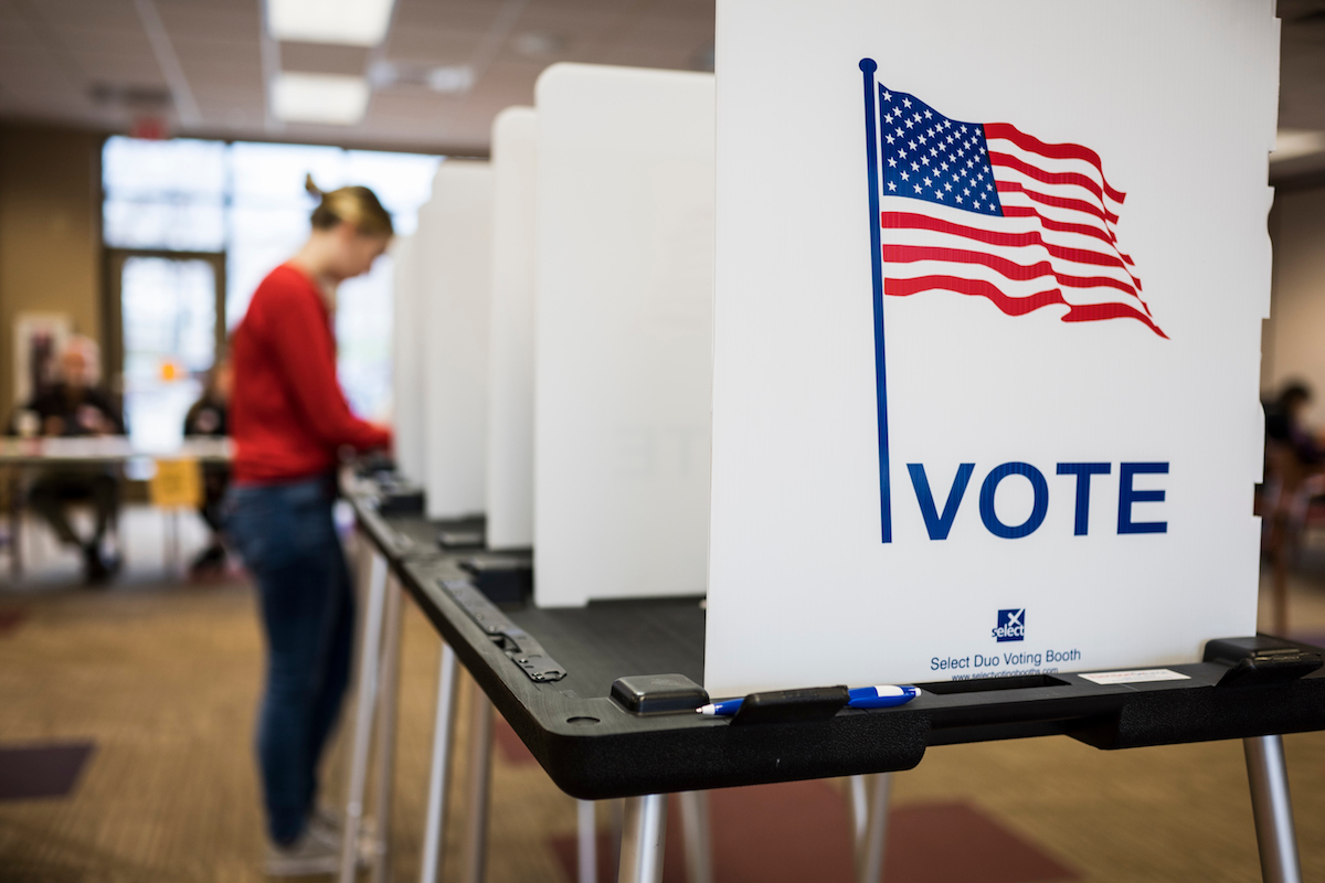 Photo of polling place