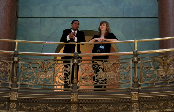 ILSIP Interns in the Capitol Rotunda