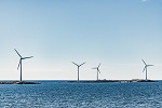 Photo of off-shore wind turbines