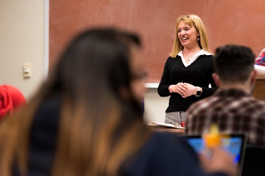Dr. Adriana Piatti-Crocker in class