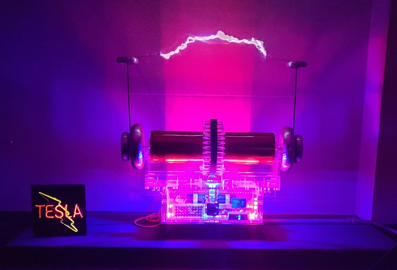 Image of Tesla coil lights