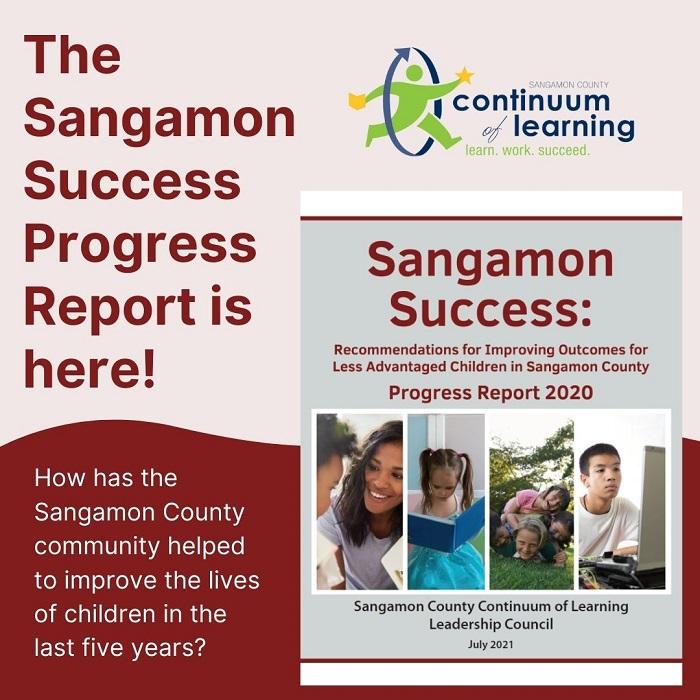 Artwork for the Sangamon Success Progress Report - July 2021